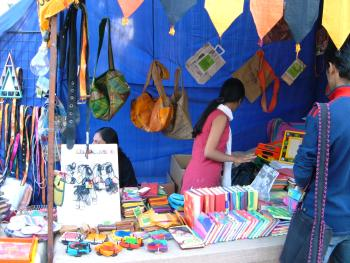 Karm Marg's Jugaad™ products at a recent market stall in Delhi